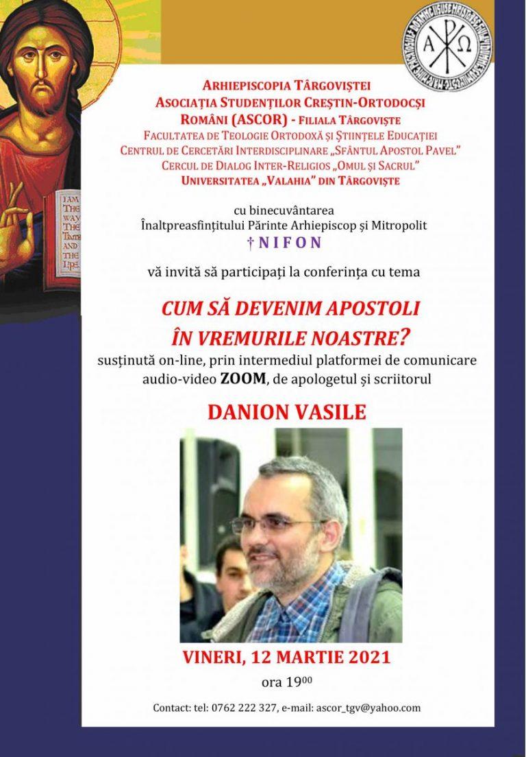 CONFERINȚĂ PENTRU TINERI – 12 martie 2021